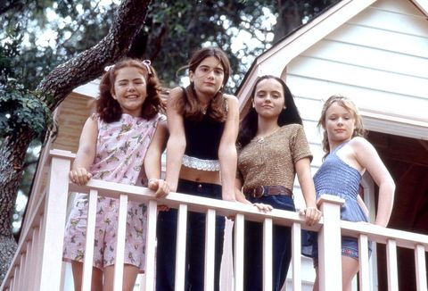 "<p><strong>The Squad</strong>: Childhood friends Roberta (Christina Ricci), Teeny (Thora Birch), Samantha (Gaby Hoffmann), and Chrissy (Ashleigh Aston Moore), who spend their 12-year-old summer having adventures and learning the realities of the world. Later, as adults, they reconnect for the birth of Chrissy's baby. </p><p><strong>The Motto</strong>: ""You can run from the disappointments you're trying to forget. But it's only when you embrace your past that you truly move forward."" </p><p><strong>The Anthem</strong>: Tony Orlando and Dawn's ""<a href=""https://www.youtube.com/watch?v=k7Jvsbcxunc"">Knock Three Times</a>"" </p><p><strong>The Takeaway</strong>: Never forget your friends as you grow up—especially since one of them might turn out to be a doctor who can deliver your baby. </p>"