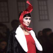 Lip, Lipstick, Headgear, Costume design, Fashion, Costume accessory, Costume, Hair accessory, Fur, Fashion model,