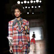 Plaid, Dress shirt, Collar, Sleeve, Tartan, Textile, Pattern, Standing, Style, Street fashion,