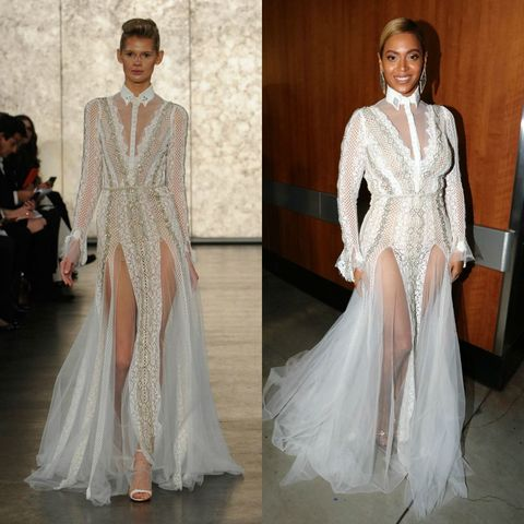 Beyonce Casually Wore A Wedding Dress To The Grammys