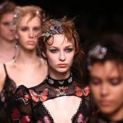 Eyelash, Fashion, Youth, Hair accessory, Flash photography, Headpiece, Body jewelry, Makeover, Fashion model, Model,