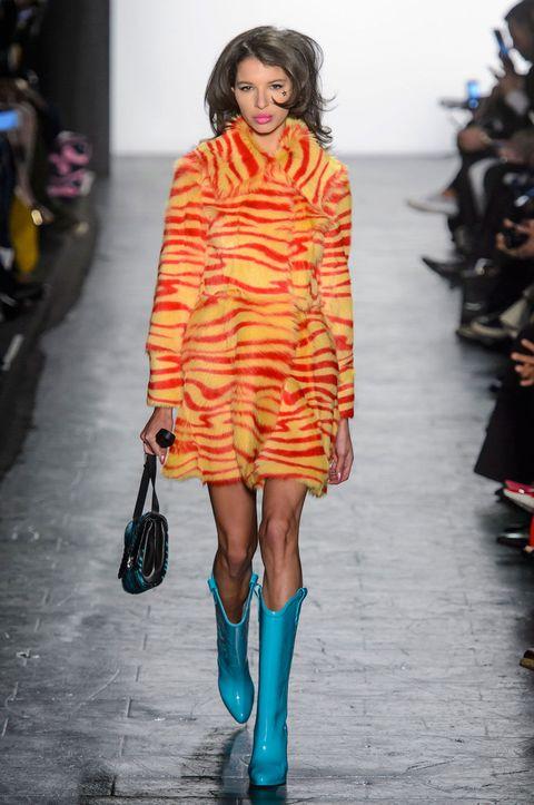 Shoulder, Style, Street fashion, Pattern, Fashion, Dress, Fashion show, Fashion model, Teal, Electric blue,