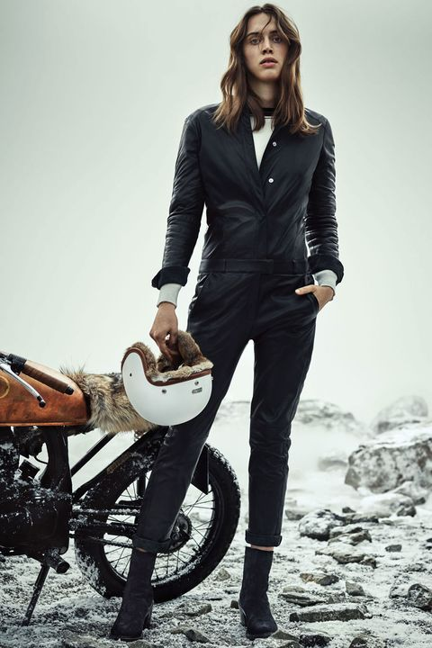 Clothing, Sleeve, Trousers, Collar, Outerwear, Motorcycle, Style, Fender, Automotive tire, Blazer,