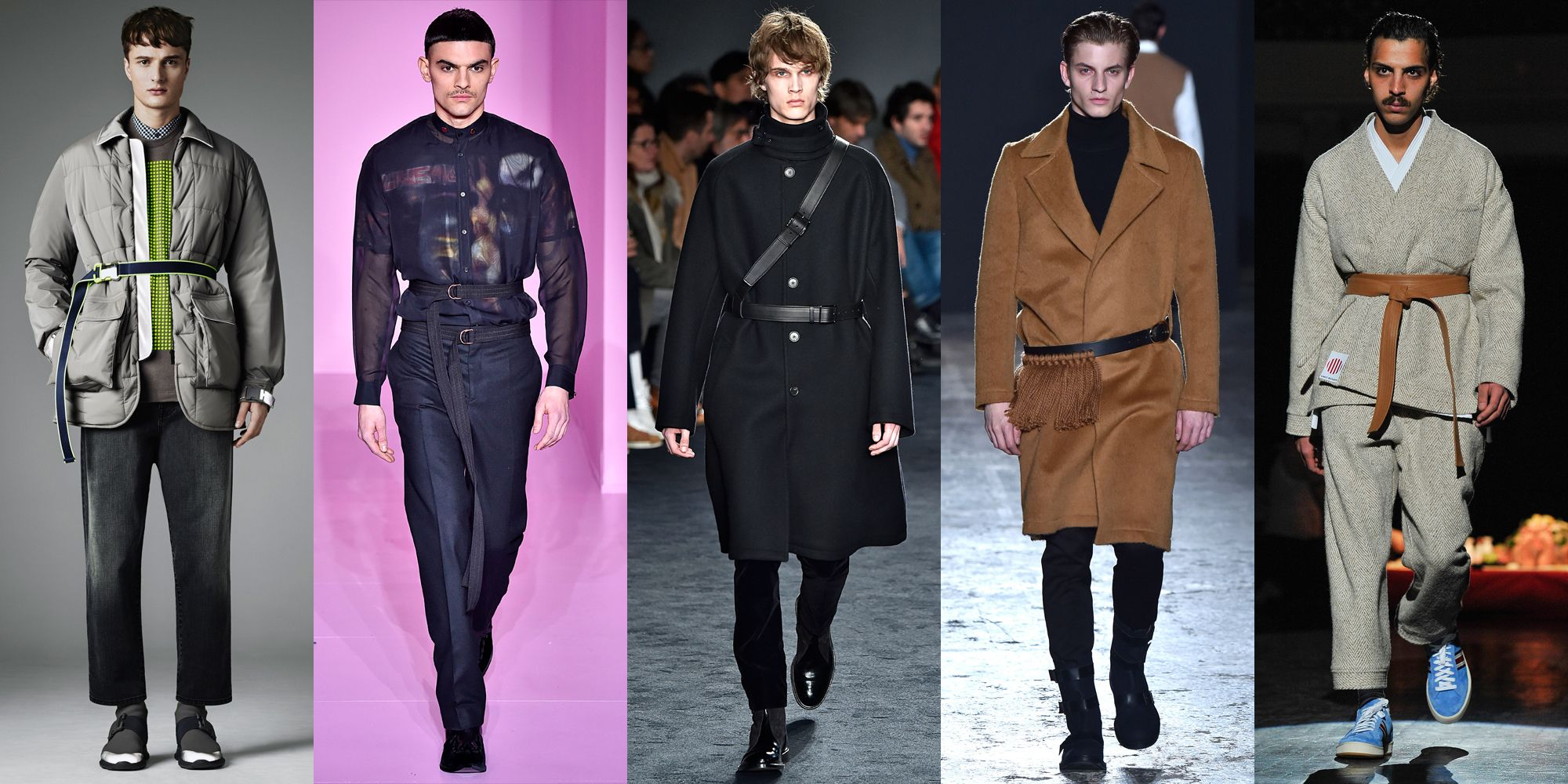 <p>We stole this one from the gals, but we're ready and willing to lend back the slimming accessory. </p><p><em><em>As seen at</em> Christopher Kane, Givenchy, Jil Sander, Ports 1961, and Umit Betnan.</em><br></p>