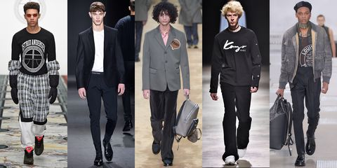 <p>The very cool (but not so subtle) way to let people know exactly who you are wearing. </p><p><em><em><em>As seen at</em></em> Astrid Anderson, Calvin Klein Collection, Fendi, Kenzo, and Louis Vuitton.</em><br></p>