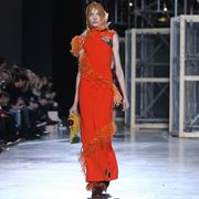 Fashion show, Fashion, Runway, Fashion model, Model, Fashion design, Costume design, Waist, Headpiece, Makeover,