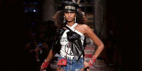Fashion accessory, Style, Fashion model, Street fashion, Costume accessory, Denim, Headgear, Fashion, Youth, Beauty,
