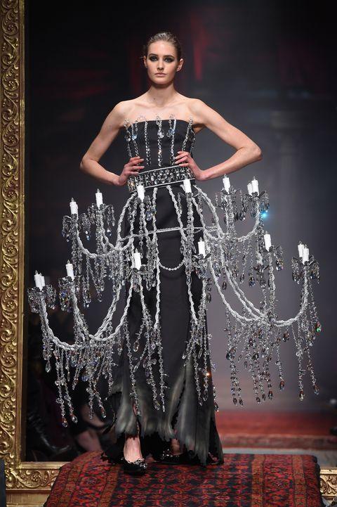 c23b1b61866 Moschino Chandelier Dress - Moschino Fall 2016 Runway Show