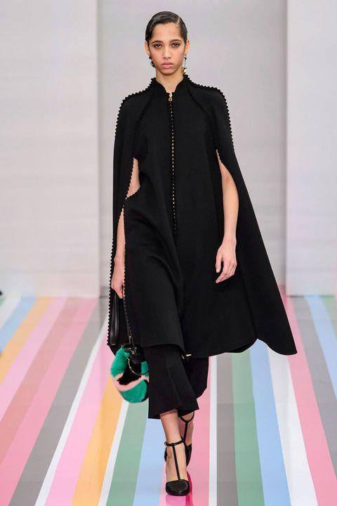 Clothing, Textile, Outerwear, Pink, Style, Fashion model, Fashion show, Dress, Fashion, Carpet,