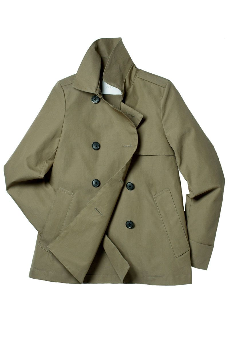 "<p>Everlane Swing Trench, $135&#x3B; <a href=""https://www.everlane.com/collections/womens-outerwear-trench/products/womens-outerwear-trench-sage"" target=""_blank"">everlane.com</a></p>"