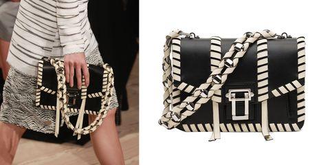 "<p> Proenza Schouler Hava Chain Handbag, $2,250; <a href=""https://www.proenzaschouler.com/hava-chain-handbag-early-edition-1.html?color=Black%2FEcru"" target=""_blank"">proenzaschouler.com</a></p>"