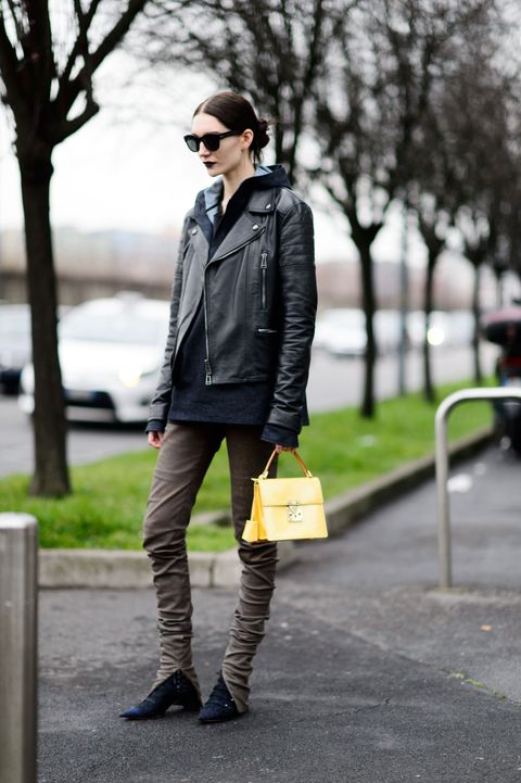 Clothing, Eyewear, Glasses, Brown, Trousers, Sunglasses, Shirt, Textile, Jacket, Outerwear,