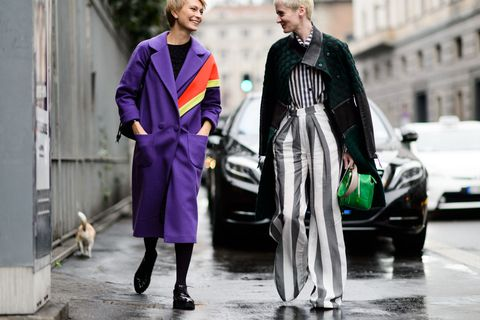 Outerwear, Street fashion, Purple, Overcoat, Frock coat, Scarf, Gown, Mid-size car, Vintage clothing, Costume design,