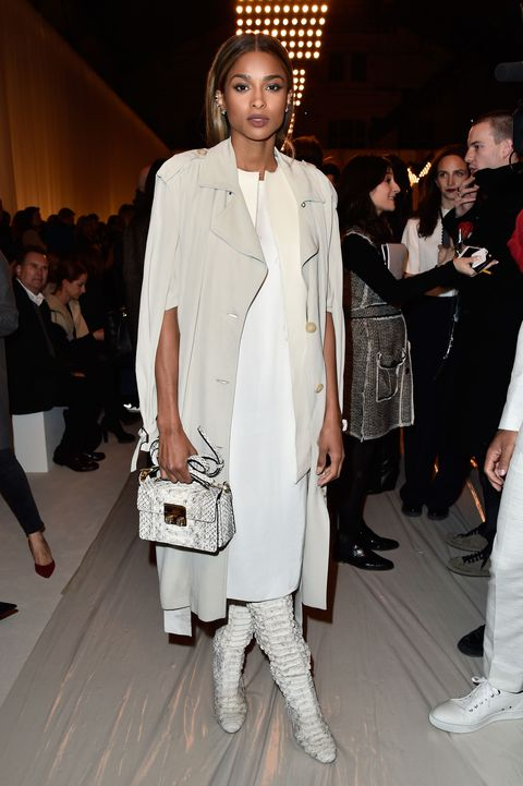 <p>Who: Ciara</p><p>When: March 3, 2016</p><p>Why: Ciara made a case for wearing all-white at Lanvin's fall show, wearing the brand from head to toe. Try the monochrome look yourself by mixing textiles like washed silk and python. </p>