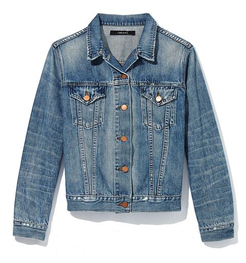 "<p>""My style isn't too girly. I like retro pieces for a rock 'n' roll vibe that can be pretty sexy.""</p><p>J Brand Denim Jacket, $278, collection at Barneys New York</p>"
