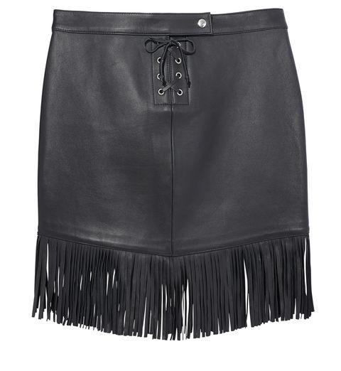 <p>Maje Lambskin Skirt, $510; maje.com<span></span></p>