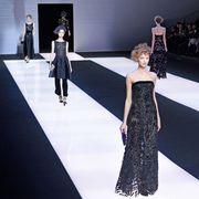 Dress, Fashion show, Flooring, Fashion model, Style, Runway, Fashion, Public event, Model, Haute couture,