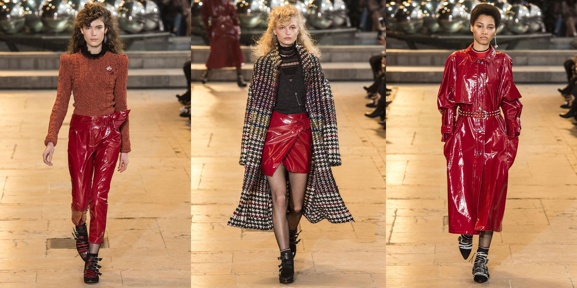 <p>Marant dares you to get bold and cover yourself in shiny red leather. </p>