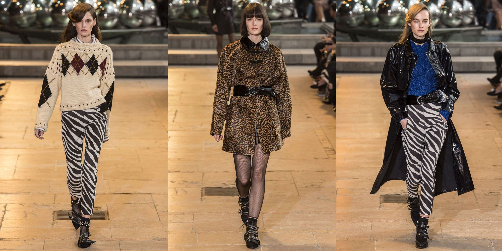 <p>Marant is endorsing leopard spots and zebra stripes for fall. </p>
