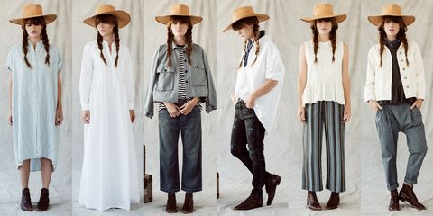 Clothing, Hat, Sleeve, Trousers, Outerwear, White, Standing, Style, Headgear, Sun hat,
