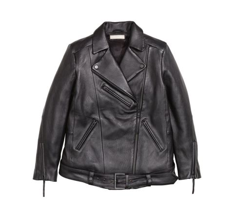 "<p>H&M's biker jacket is as classic as it gets. The leather is thick enough to sustain daily wear for years—this is a jacket to keep forever.</p><h5>Leather Biker Jacket, $199, <a href=""http://www.hm.com/us/product/32058?article=32058-A&clickid=wiUXMPWwT1ukxIFU06VSqVL2UkS1dS2RMUy2zw0&iradid=226427&utm_content=57486&utm_campaign=Online%20Tracking%20Link&iradtype=ONLINE_TRACKING_LINK&irmpname=POPSUGAR&irmptype=mediapartner&utm_medium=affiliate&utm_source=ir&irgwc=1"" target=""_blank""><u>hm.com</u></a>.</h5>"