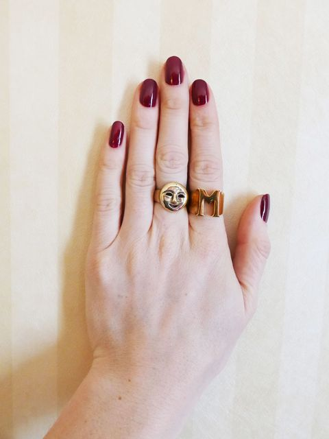 """<p>Create a burgundy base with two coats of Sally Hansen Complete Salon Manicure in <a href=""""http://www.walmart.com/ip/Sally-Hansen-Complete-Salon-Manicure-Nail-Color-Ruby-Do-0.5-fl-oz/24511949?action=product_interest&action_type=title&item_id=24511949&placement_id=irs-2-m2&strategy=PWVUB&visitor_id&category=&client_guid=a5554c95-069f-4cee-b9fe-9f152657730e&customer_id_enc&config_id=2&parent_item_id=23554680&parent_anchor_item_id=23554680&guid=4fa79963-3160-4b13-80ed-527612589954&bucket_id=irsbucketdefault&beacon_version=1.0.1&findingMethod=p13n"""">Ruby Do.</a><a href=""""http://www.walmart.com/ip/Sally-Hansen-Complete-Salon-Manicure-Nail-Color-Ruby-Do-0.5-fl-oz/24511949?action=product_interest&action_type=title&item_id=24511949&placement_id=irs-2-m2&strategy=PWVUB&visitor_id&category=&client_guid=a5554c95-069f-4cee-b9fe-9f152657730e&customer_id_enc&config_id=2&parent_item_id=23554680&parent_anchor_item_id=23554680&guid=4fa79963-3160-4b13-80ed-527612589954&bucket_id=irsbucketdefault&beacon_version=1.0.1&findingMethod=p13n""""></a>  </p>"""