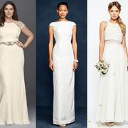 Clothing, Shoulder, Dress, Textile, Joint, White, Formal wear, Gown, Waist, Style,