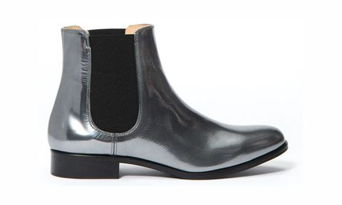 """<p>Aquatalia's metallic boots are shiny and fun, but also gloriously flat. This updated take on the classic Chelsea boot is a bold look, without being over the top.</p><p><strong>Yulia Boots, $450, <a href=""""http://www.aquatalia.com/yulia/d/90546C1638?CategoryId=202""""><span>aquatalia.com</span></a>.</strong><strong></strong></p>"""