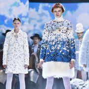 People, Sleeve, Textile, Winter, Fashion, Fur, Fashion design, Vintage clothing, Tradition, Pattern,