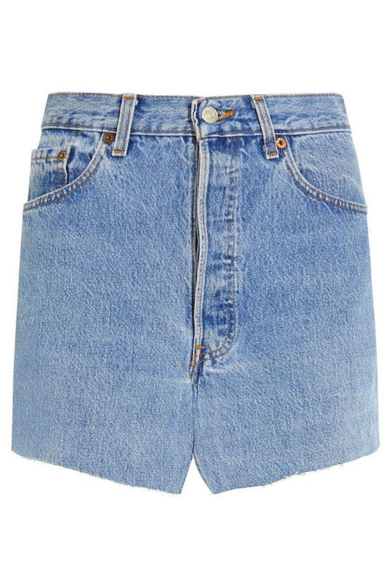 "<p>Vetements Denim Mini Skirt, $1,160; <a href=""https://www.net-a-porter.com/us/en/product/684179/Vetements/denim-mini-skirt"" target=""_blank"">net-a-porter.com</a></p>"