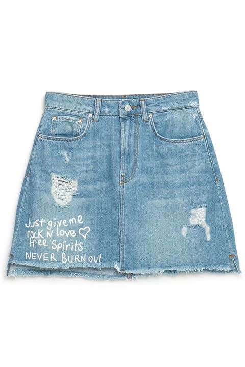 "<p> Zara ""I Am Denim"" Collection Denim Skirt, $40; <a href=""http://www.zara.com/us/en/trf/skirts/%22i-am-denim%22-collection-denim-skirt-c587006p3319516.html"" target=""_blank"">zara.com</a></p>"