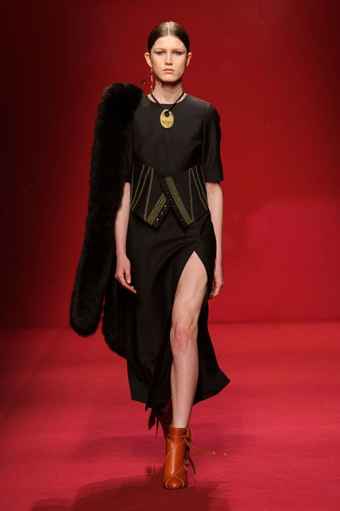 Human, Shoulder, Joint, Red, Dress, Style, Jewellery, Fashion model, Fashion, Fashion show,