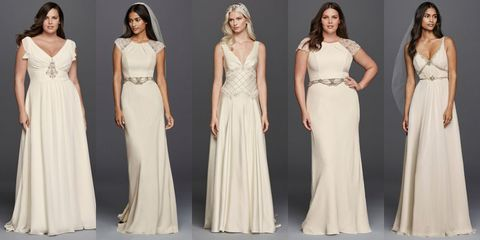 "<p>Jenny Packham is the latest designer to create an affordable collection for David's Bridal, joining the ranks of Vera Wang and Zac Posen. Featuring  her signature feminine touch and intricate beadwork like the above crosshatch bodice, you'll get the designer product without the sticker shock.</p><p> 	<em>Wonder by Jenny Packham Wedding Dresses, $950- $1,500; <a href=""http://www.davidsbridal.com/Browse_wedding-dresses-wonder-by-jenny-packham"">davidsbridal.com</a><br><br></em></p>"