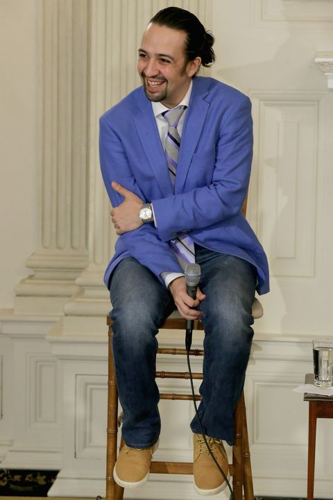 Clothing, Leg, Blue, Dress shirt, Trousers, Denim, Collar, Sitting, Shirt, Textile,