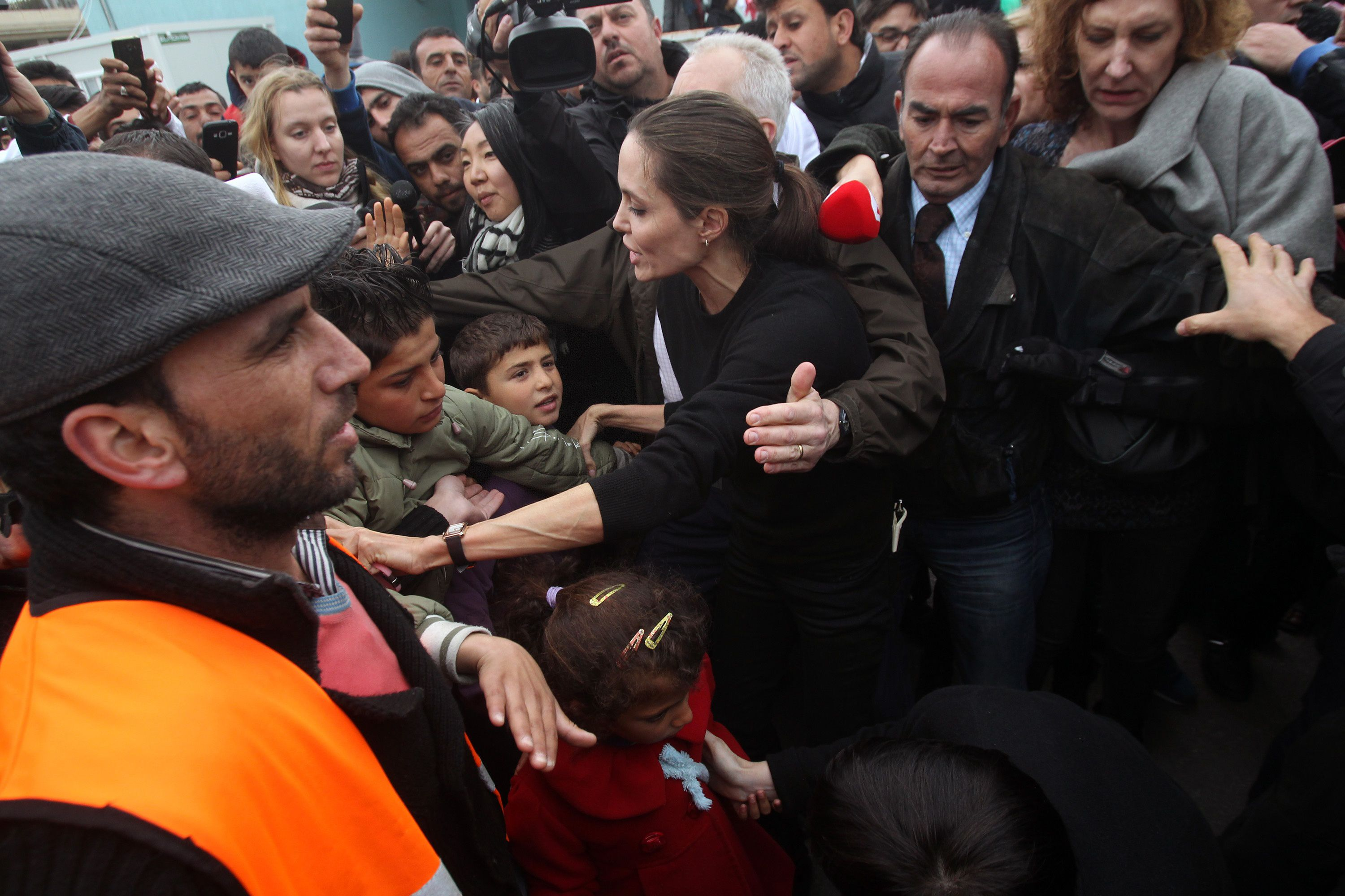 Angelina Jolie Used Herself as a Shield to Protect Kids From a Mob in Greece