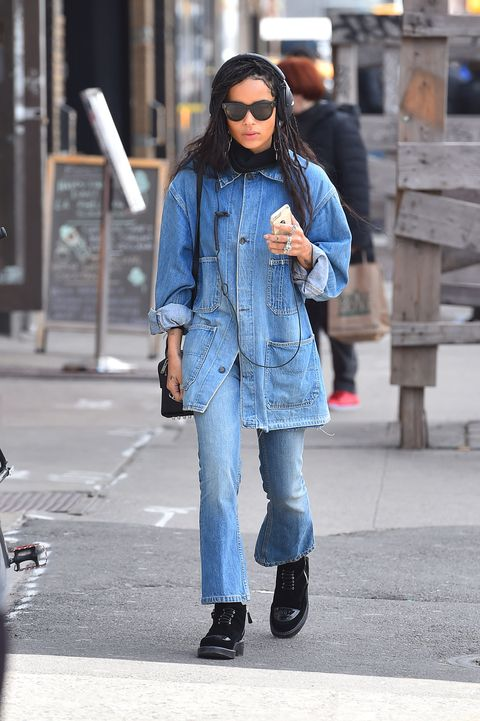 <p>Who: Zoe Kravitz</p><p>When: March 17, 2016</p><p>Why: An edgy Texas tuxedo on our best dressed list? When Zoe Kravitz wears it, hell yeah. We appreciate that instead of going for the usual denim-shirt-tucked-into-skinny-jeans look, she went with a cropped bootcut, a jean jacket, and all-black accessories. </p>