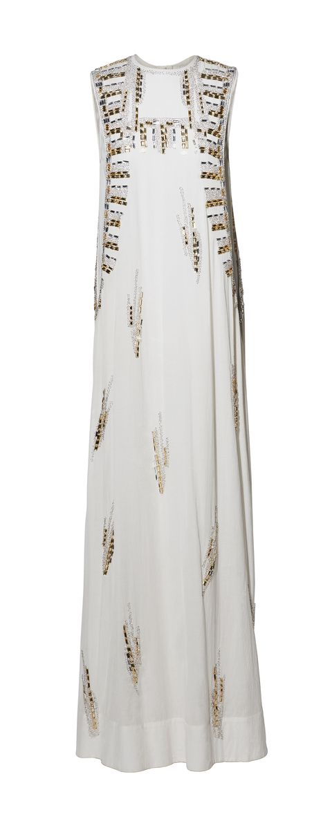 Textile, White, Embroidery, Beige, Embellishment, Natural material, Fashion design, Linens, Silver, Day dress,