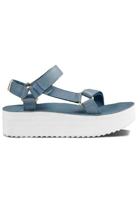 "<p>Teva Flatform Universal Crafted, $100; <a href=""http://www.teva.com/women-sandals/flatform-universal-crafted/1013112.html?dwvar_1013112_color=CITA#start=3&cgid=flatform-sandals"" target=""_blank"">teva.com</a></p>"
