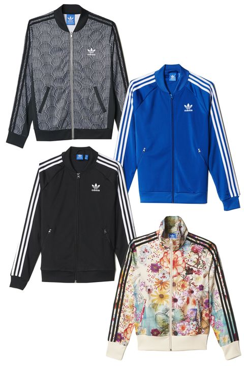 "<p>I've loved them since I was a little kid and saw people like LL Cool J and Missy Elliot rocking them. Now that they're back in style I've happily picked up a bunch in various colors and designs and wear them on my athleisurely days. –Nikki Ogunnaike, ELLE.com Senior Fashion Editor </p><p><em>Adidas Track Jackets, starting at $70; </em><a href=""http://www.adidas.com/us/"" target=""_blank""><em>adidas.com</em></a></p>"