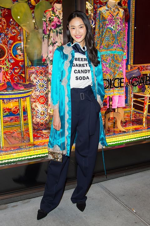 <p>Dolce & Gabbana Pyjama Party on March 15, 2016.</p>