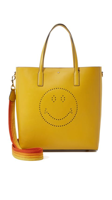"<p>Anya Hindmarch Smiley Ebury Tote, $1,450; <a href=""https://www.shopbop.com/smiley-ebury-tote-anya-hindmarch/vp/v=1/1591284316.htm?folderID=2534374302055237&fm=other-viewall&os=false&colorId=10456"">shopbop.com</a></p>"