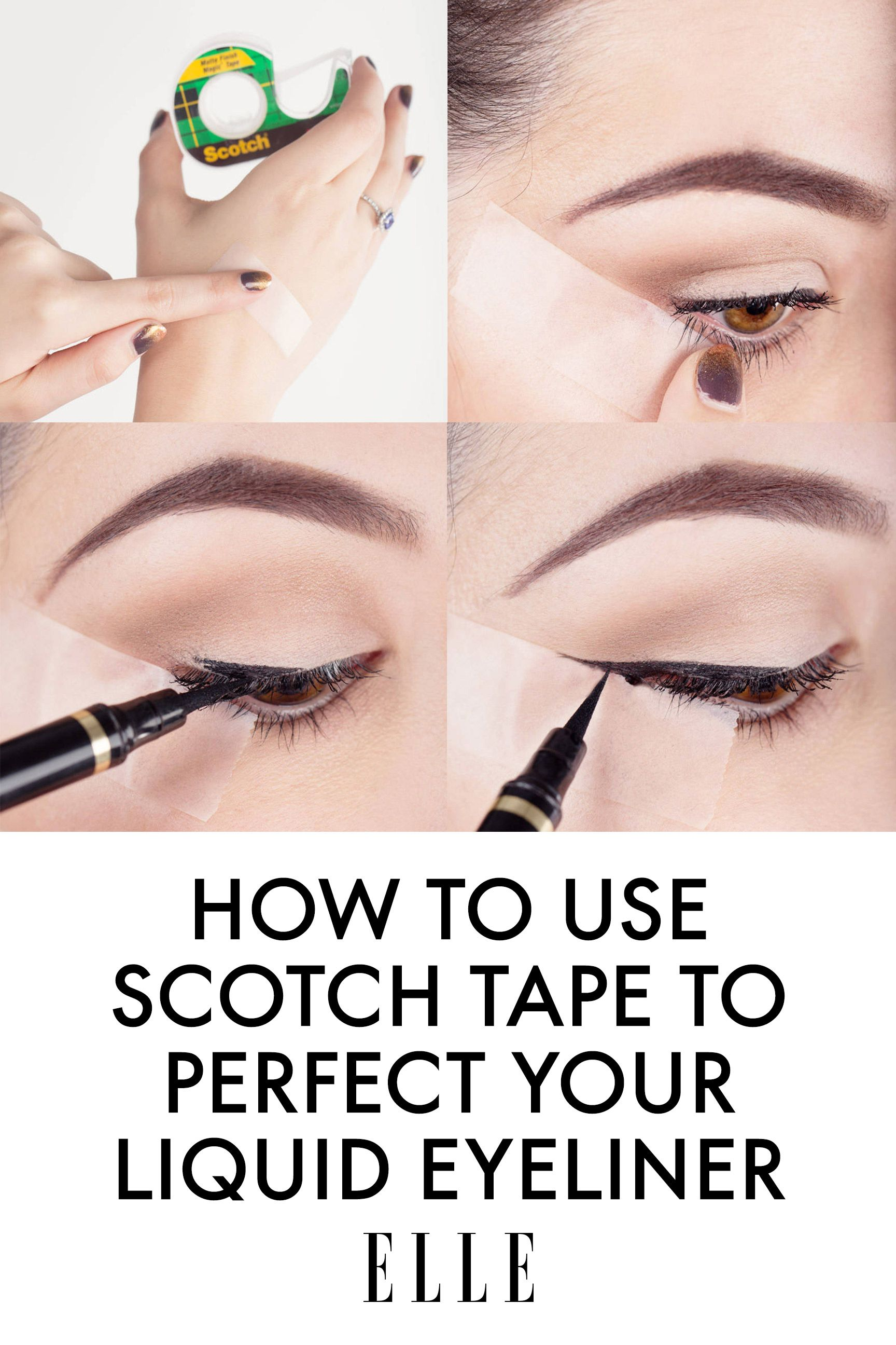 Liquid eyeliner tips scotch tape tips to perfect your liquid eyeliner