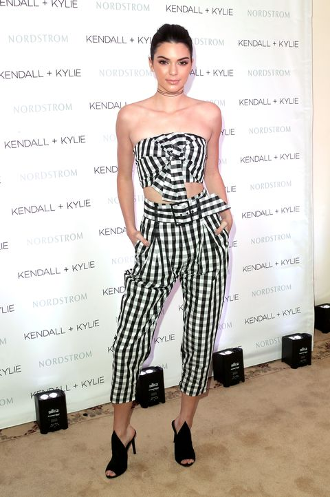 <p>Who: Kendall Jenner </p><p>When: March 24, 2016  </p><p>Why: Celebrating the launch of her Kendall + Kylie Collection At Nordstrom, Kendall wore her own designs to a luncheon in LA. We're not saying we're <em>surprised </em>that this outfit is this good, but it's pretty damn good. <span></span></p>