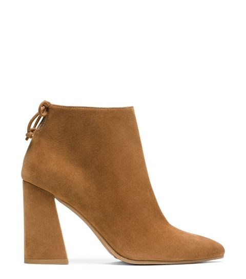 <p>Booties, specifically camel colored booties, go with everything from skinny jeans and skirts to flares and culottes. Team these with pieces in the same color family, other neutrals, or even vibrant shades like red and and green. </p>