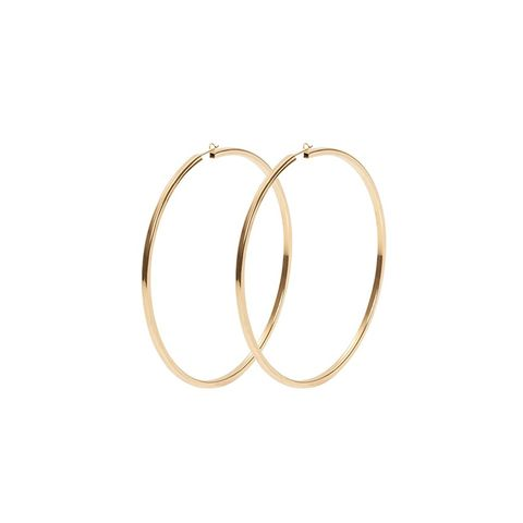 "<p>Large enough to make a statement, but not too big to take away from a look, these earrings are a foolproof option for everyday wear.</p><p>Jennifer Fisher 2in Square Hoops Earrings, $250; <a href=""http://jenniferfisherjewelry.com/brass-collection/ears/2in-square-hoop-earrings"">jenniferfisherjewelry.com</a> </p>"