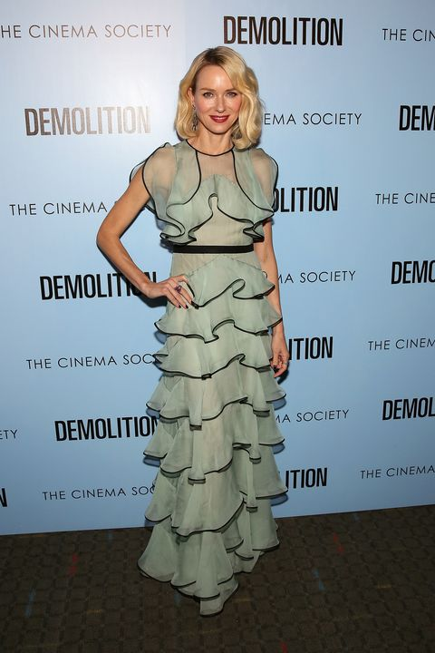 <p>Who: Naomi Watts</p><p>When: March 21, 2016 i</p><p>Why: If a pistachio macaron ever took the form of a dress it would look like Naomi Watts' ruffled gown by Valentino. We can only dream of lounging at the Soho Ladurée in this exact outfit. </p>