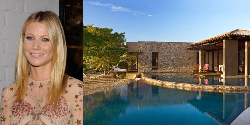 "<p>Of course Goop maven <a href=""http://www.elledecor.com/celebrity-style/g240/shortlist-gwyneth-paltrow-70304/"" target=""_blank"">Gwyneth Paltrow</a> stayed in a 6-bedroom villa ""conceived by renowned eco-sensitive architects"" when she visited <a href=""http://www.veranda.com/luxury-lifestyle/a1461/gwyneth-paltrow-airbnb-rental-mexico/"" target=""_blank"">Punta Mita, Mexico</a>.  The pad also has a yoga room, two infinity pools, and farm-to-table meals prepared by the estate chef. Now that's a vacation home we'd like to be invited to. </p>"