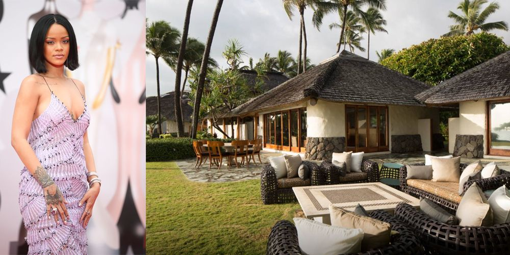 "<p>Leave it to Rihanna to find a lush Hawaiian getaway like this one.  The <a href=""https://www.airbnb.com/rooms/8311979"" target=""_blank"">Paul Mitchell estate</a> features a waterfall, stone fire pit, secluded beach cove, and – wait for it – Japanese bath house complete with a sauna and meditation pond. </p>"