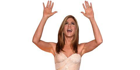 Jennifer Aniston praises pasta.