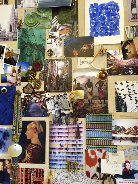 <p>Burch's spring 2016 inspiration board.</p>